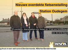 Overdekte fietsstalling station Oudegem