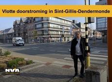 Patrick Van Campenhout zorgt dat de doorstroming in Sint-Gillis-Dendermonde vlotter gebeurt.