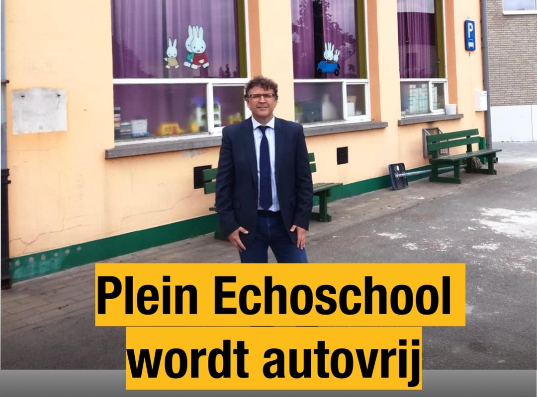 Plein Echoschool wordt autovrij